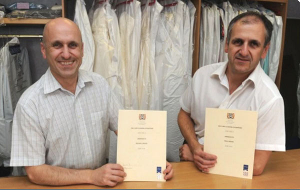 Michael and Paul with their certificates